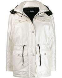 Karl Lagerfeld Drawstring Waist Jacket - White
