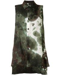 Y's Yohji Yamamoto Sleeveless Tie-dye Shirt - Green