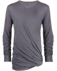 Rick Owens ドレープ Tシャツ - グレー