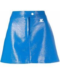 Courreges ロゴ スカート - ブルー