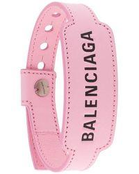 Balenciaga Браслет Cash С Тисненым Логотипом - Розовый