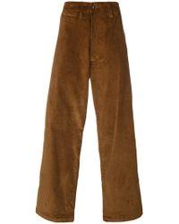 E. Tautz Pantalones de pana - Marrón