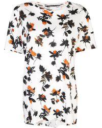 Derek Lam T-Shirt mit Blumenmuster - Weiß
