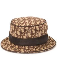 Dior Pre-owned Trotter Bucket Hat - Brown