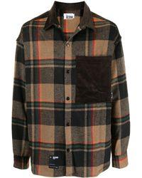 Izzue Chest-pocket Plaid Shirt - Multicolour