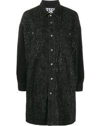 DIESEL デニム シャツドレス - ブラック