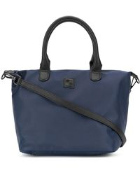 Woolrich Shagreen Effect Accent Tote Bag - Blue