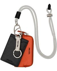 Prada - Saffiano Card Holder Key Trick - Lyst