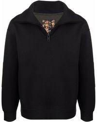 Emporio Armani ジップアップ スウェットシャツ - ブラック