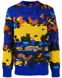 Les Hommes マルチカラー セーター - ブルー
