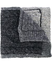 Thom Browne Pocket Detail Cable Knit Scarf - Gray