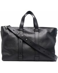 Orciani Leather Tote Bag - Black