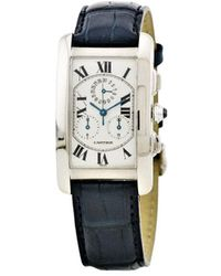 Cartier Orologio pre-owned Tank Americaine 26 mm 2000 - Bianco