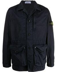 Stone Island - Куртка-рубашка С Нашивкой-логотипом - Lyst