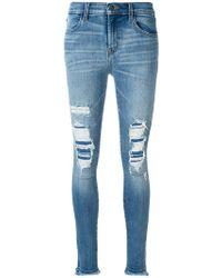 J Brand - Distressed Skinny Jeans - Lyst