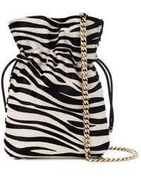 Les Petits Joueurs Zebra Print Chain Crossbody Bag - Black