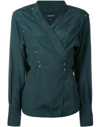 Isabel Marant Studded Wrap Blouse - Groen