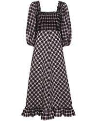 Ganni - チェック ドレス - Lyst