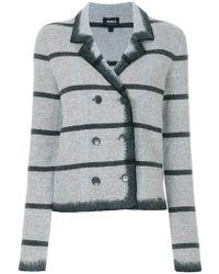 Armani Jeans - Striped Jacket - Lyst