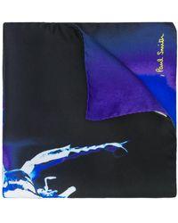 Paul Smith Einstecktuch mit Käfer-Print - Blau