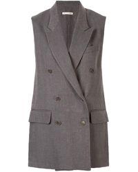 Hermès Удлиненный Жилет С Заостренными Лацканами - Серый