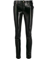 Versace Jeans Klassische Lederhose - Schwarz