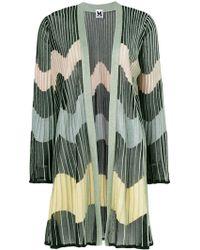 M Missoni - Pleated Stripe Cardi-coat - Lyst