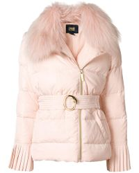 Class Roberto Cavalli - Belted Puffer Jacket - Lyst