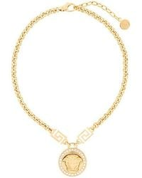 Versace - Greca And Medusa Necklace - Lyst
