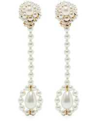 Shrimps Orecchini pendenti con perla sintetica - Bianco