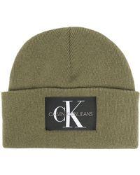 Calvin Klein Шапка Бини С Нашивкой-логотипом - Зеленый