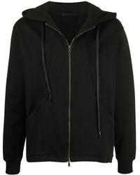 The Viridi-anne Zip-up Cotton Hoodie - Black