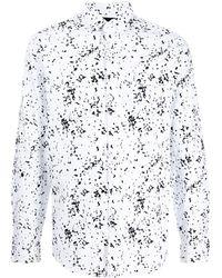 Armani Exchange ジオメトリックパターン シャツ - ホワイト