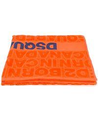 DSquared² Born In Canada Beach Towel - Orange