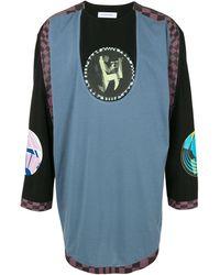 Kiko Kostadinov Panelled Long-sleeved T-shirt - Blue