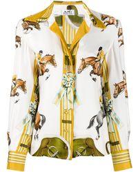 Hermès プレオウンド ホースプリント シャツ - マルチカラー