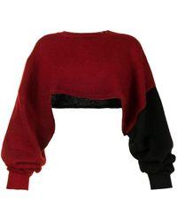 Y's Yohji Yamamoto カラーブロック セーター - レッド