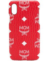 MCM Iphone X Logo Phone Case - Red