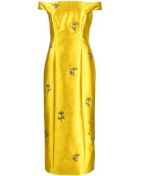 Erdem Embellished Long Dress - イエロー