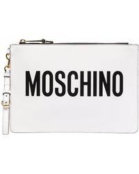 Moschino - ロゴ クラッチバッグ - Lyst