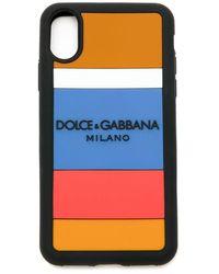 Dolce & Gabbana Iphone X Max Gestreept Hoesje - Meerkleurig