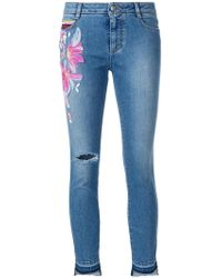Ermanno Scervino | Embroidered Cropped Jeans | Lyst