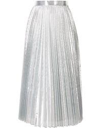 Enfold メタリック プリーツスカート