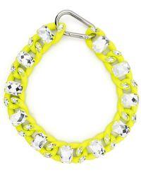 Philipp Plein Crystal Chain Choker - Yellow