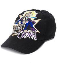 Dolce & Gabbana Gorra de béisbol con motivo de rey bordado - Negro
