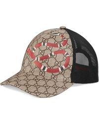 Gucci Snake Print Gg Supreme Baseball Hat - Multicolour