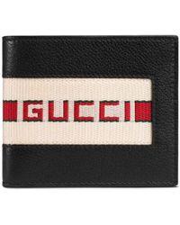 Gucci Leren Portemonnee - Zwart