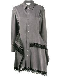 Koche レースディテール ドレス - グレー