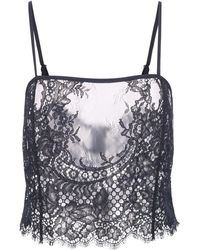 Fleur du Mal All Over Lace Cami - Black