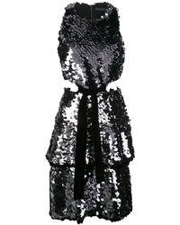 Proenza Schouler スパンコール カットアウトドレス - ブラック